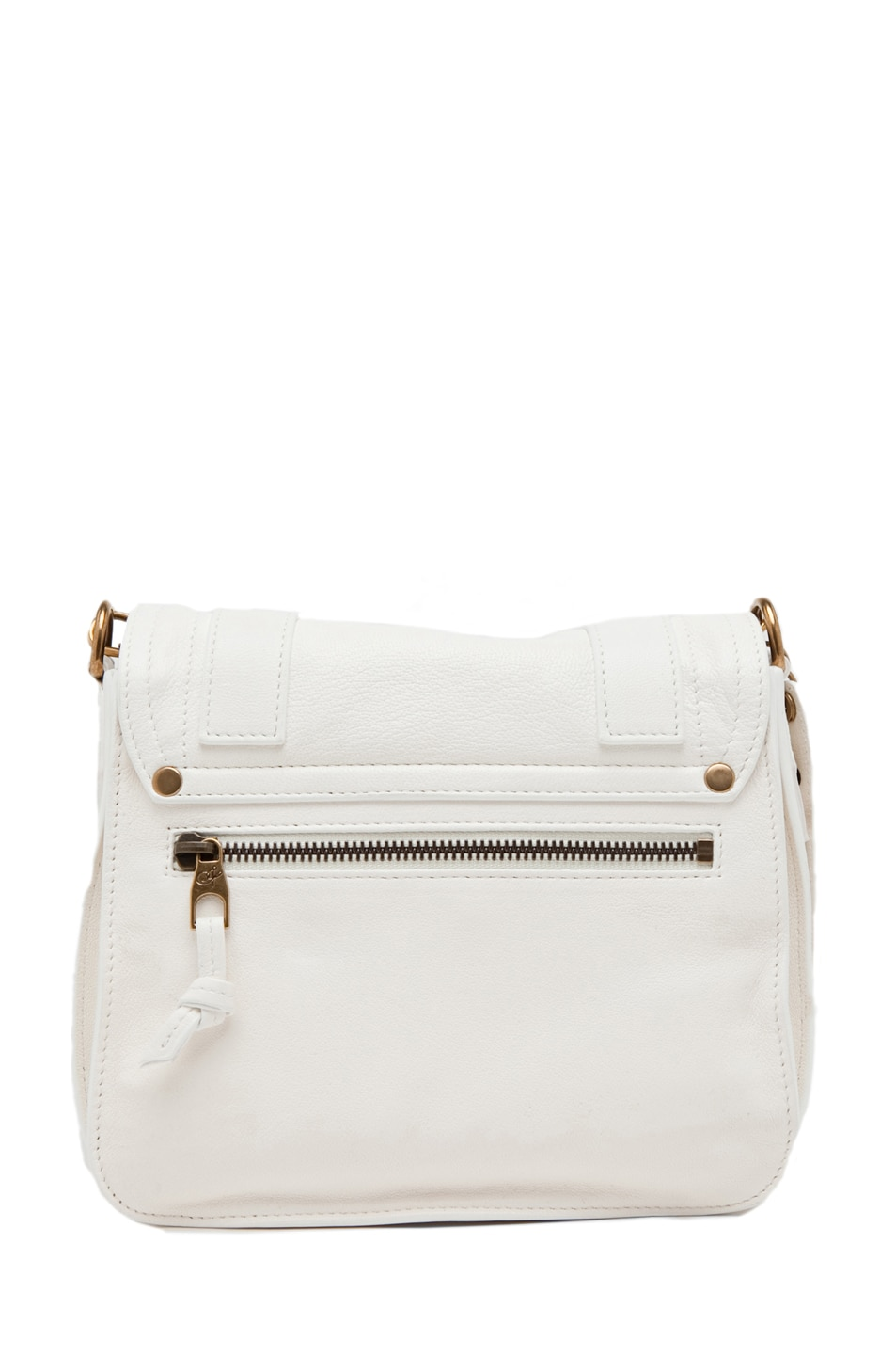 Image 2 of Proenza Schouler PS1 Leather Pouch in White