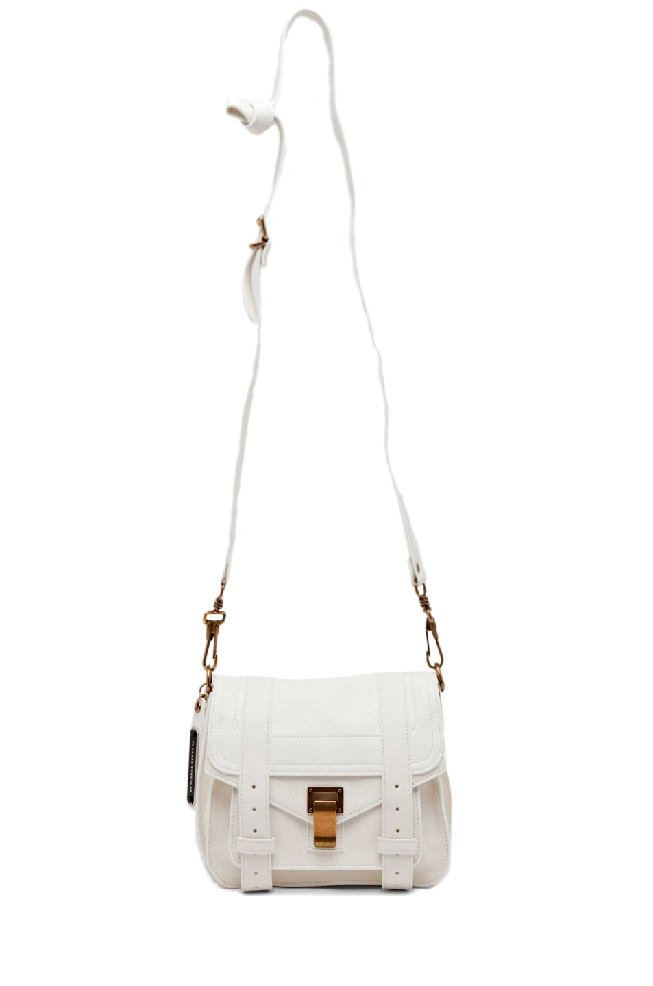 Image 5 of Proenza Schouler PS1 Leather Pouch in White