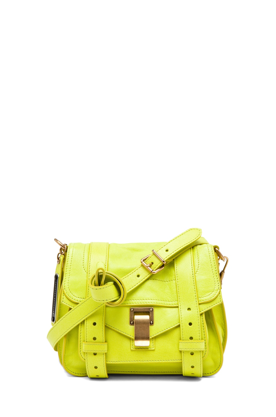 Image 1 of Proenza Schouler PS1 Pouch Leather in Citron