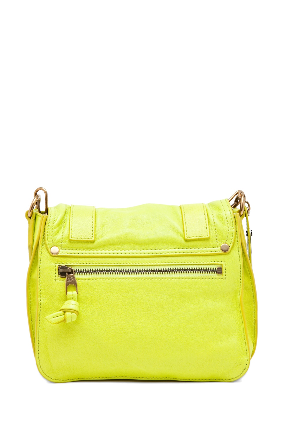 Image 2 of Proenza Schouler PS1 Pouch Leather in Citron