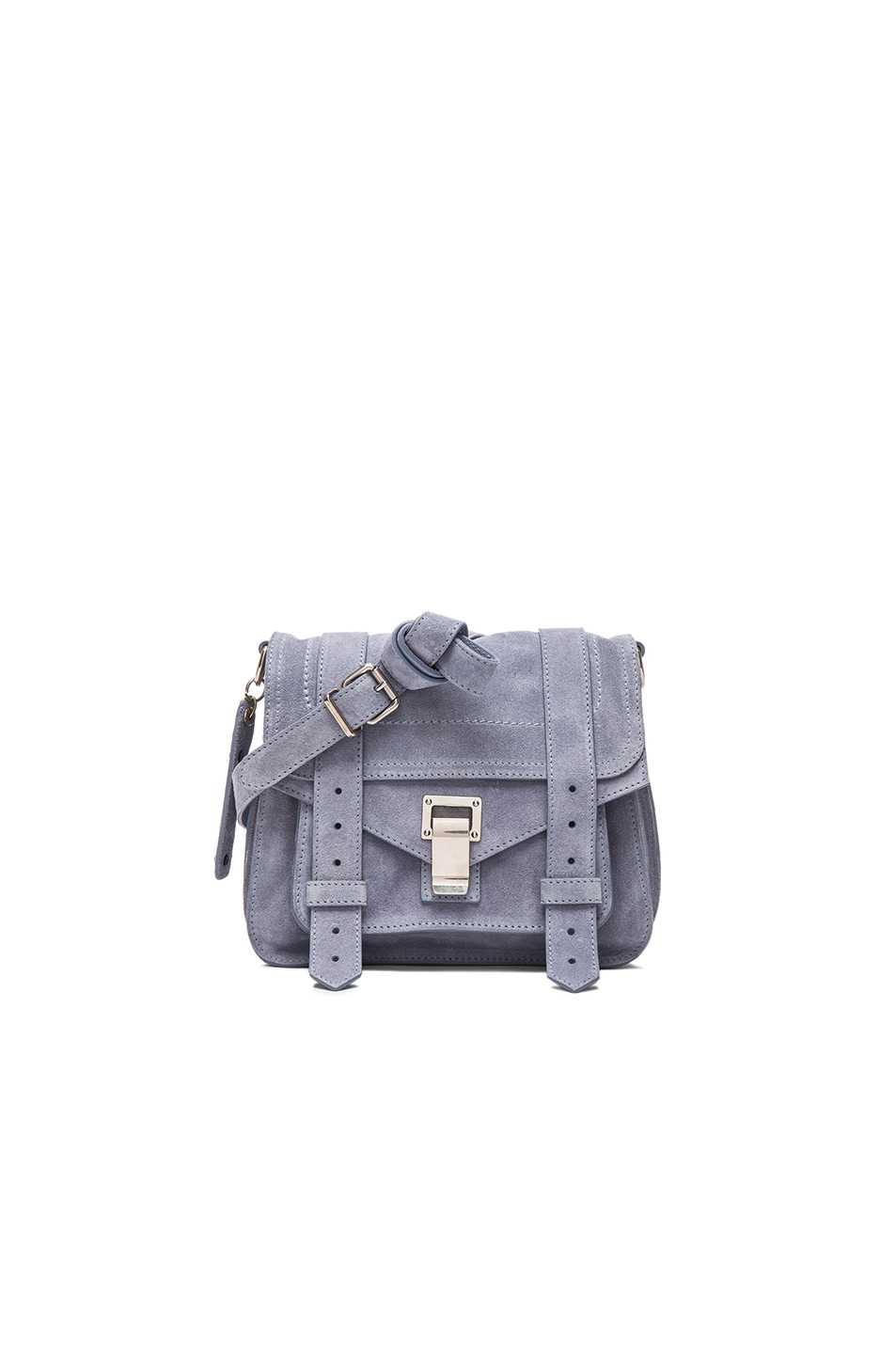 Image 1 of Proenza Schouler PS1 Suede Pouch in Polar Blue