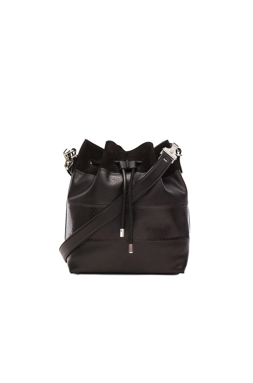 Image 1 of Proenza Schouler Medium Ayers Stripe Bucket Bag in Black