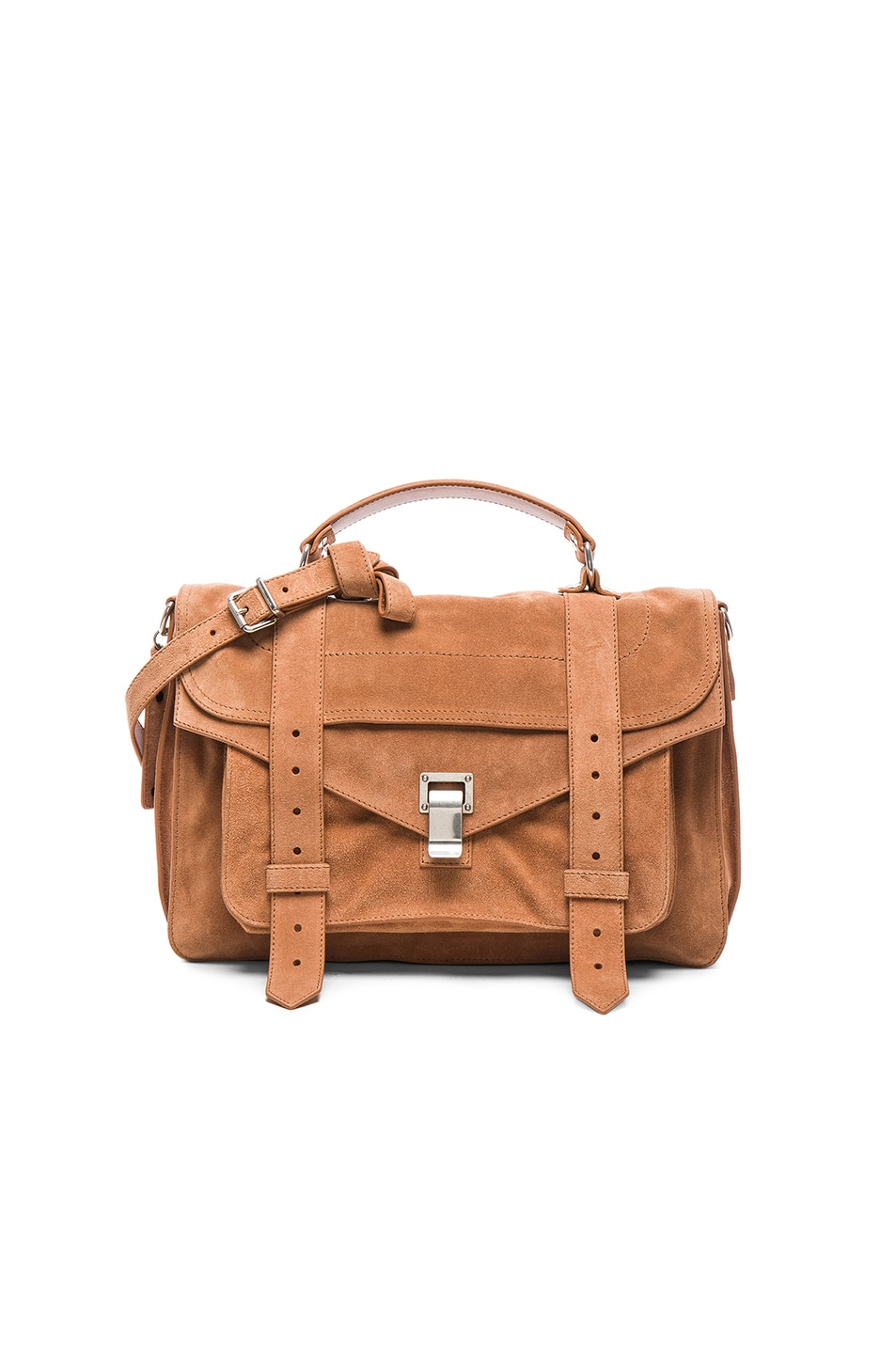 Image 1 of Proenza Schouler Medium PS1 Suede Bag in Dune