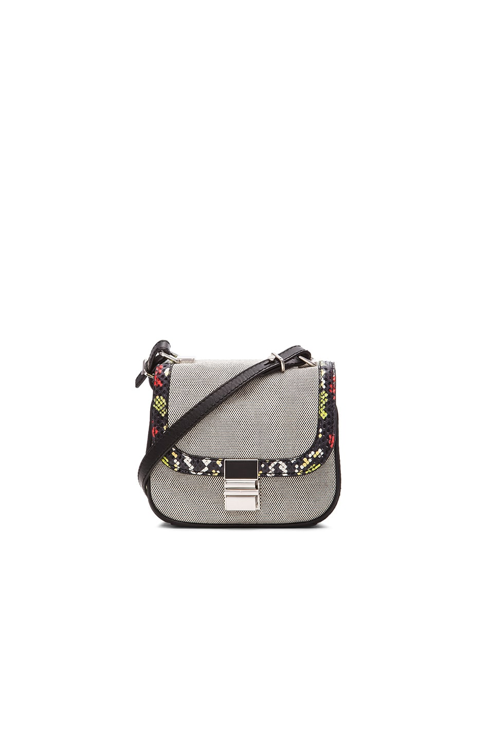 Image 1 of Proenza Schouler Tiny Ayers & Canvas Kent Bag in Black & White