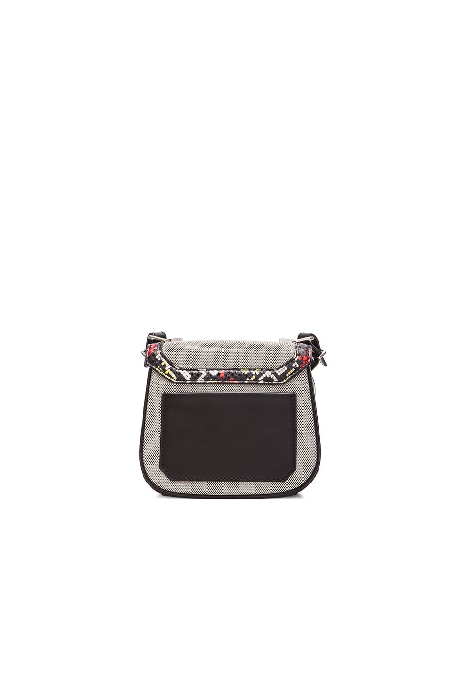 Image 3 of Proenza Schouler Tiny Ayers & Canvas Kent Bag in Black & White