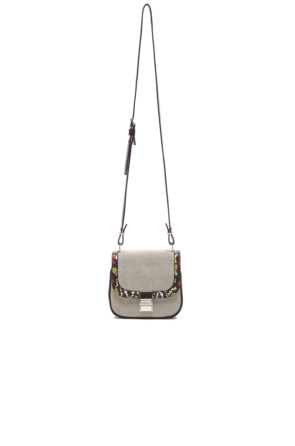 Image 6 of Proenza Schouler Tiny Ayers & Canvas Kent Bag in Black & White