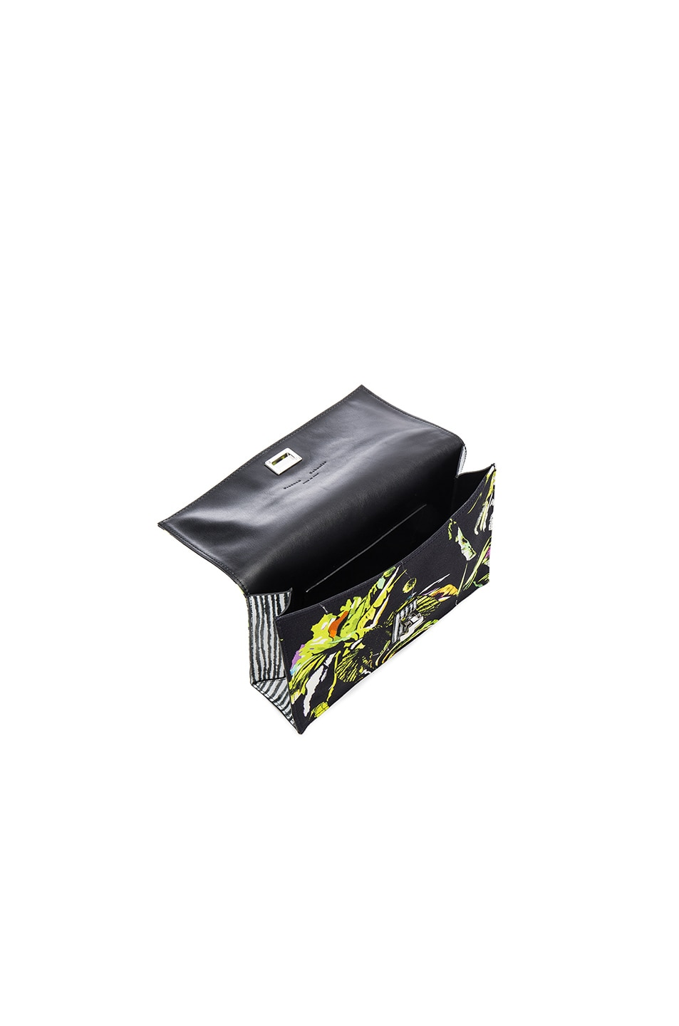 Image 5 of Proenza Schouler Small Floral Print Satin Lunch Bag in Navy