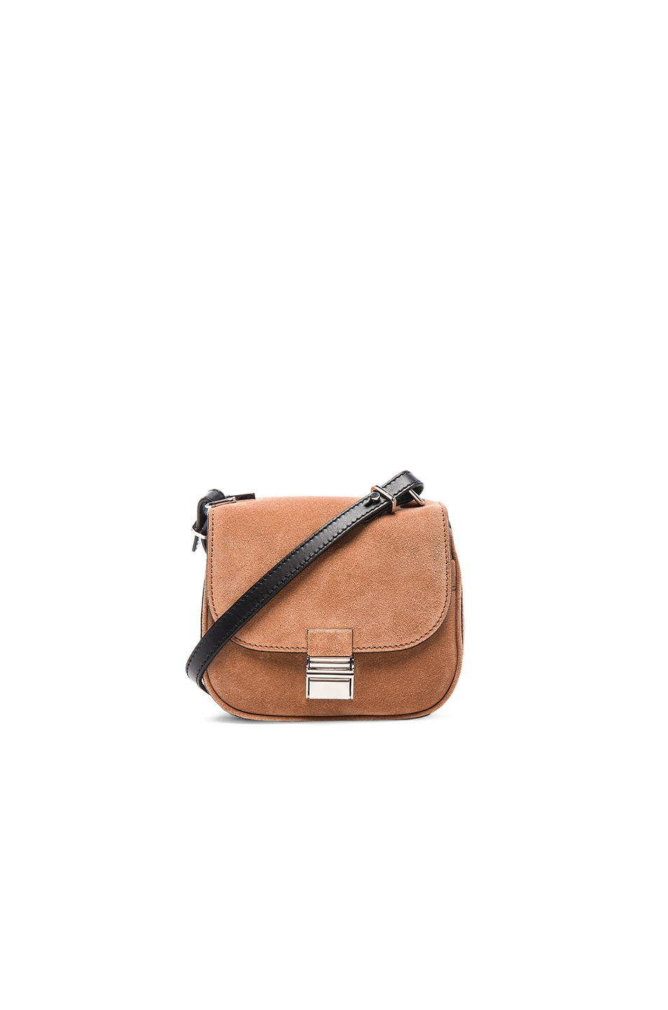 Image 1 of Proenza Schouler Tiny Suede Kent Bag in Dune