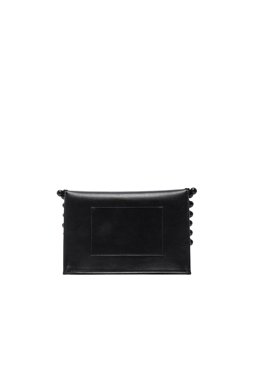 Image 3 of Proenza Schouler Small Pom Pom Crochet Lunch Bag in Black