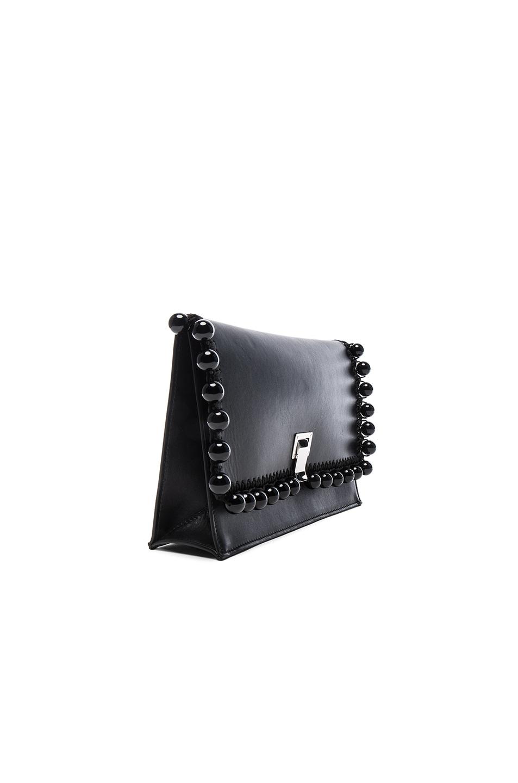 Image 4 of Proenza Schouler Small Pom Pom Crochet Lunch Bag in Black