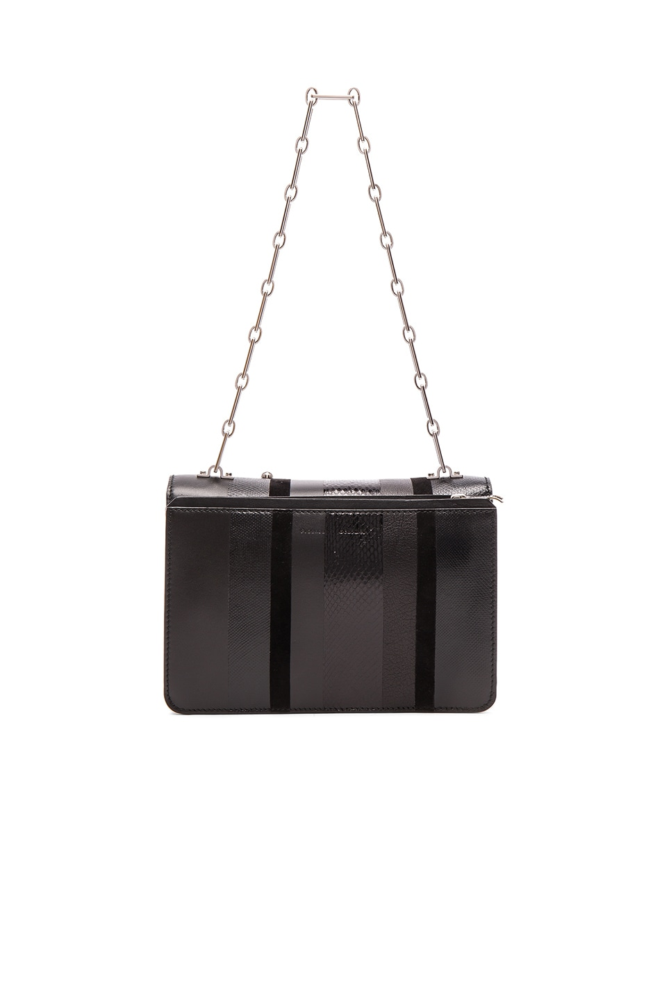 Image 3 of Proenza Schouler Hava Exotic Stripe Mix Chain Bag in Black