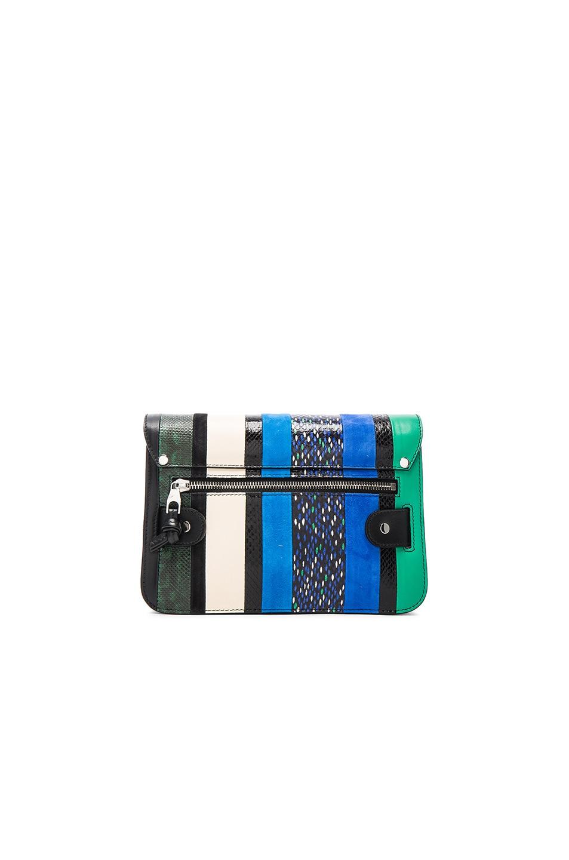 Image 3 of Proenza Schouler Mini Exotic Stripe Mix PS11 in Aloe & Sea Blue