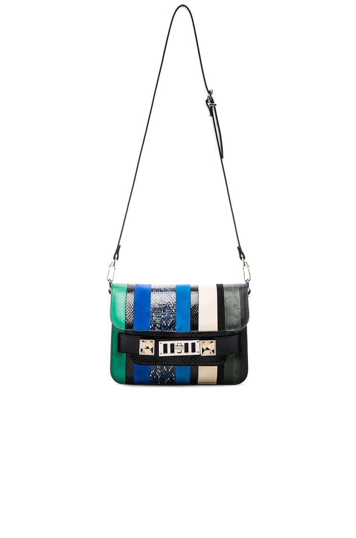 Image 6 of Proenza Schouler Mini Exotic Stripe Mix PS11 in Aloe & Sea Blue