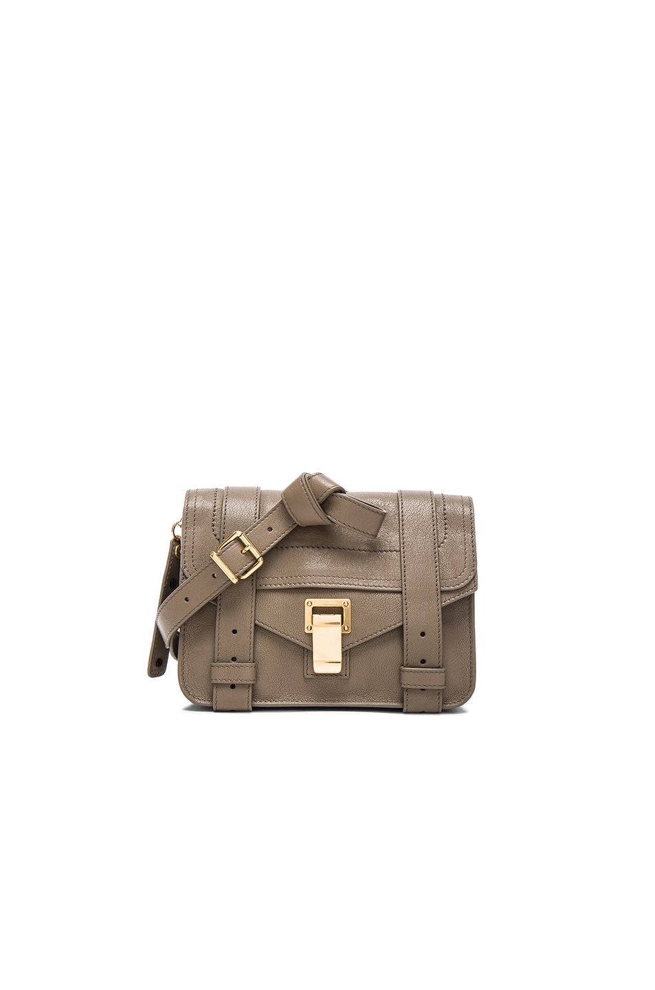 Image 1 of Proenza Schouler Mini PS1 Leather in Smoke