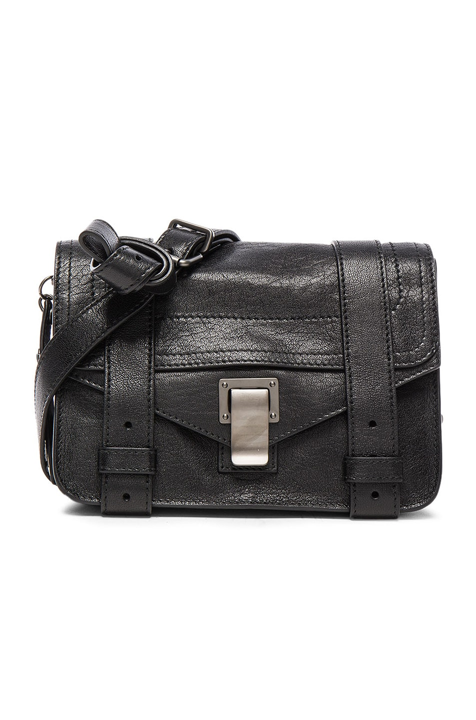 Image 1 of Proenza Schouler Mini PS1 Leather in Black