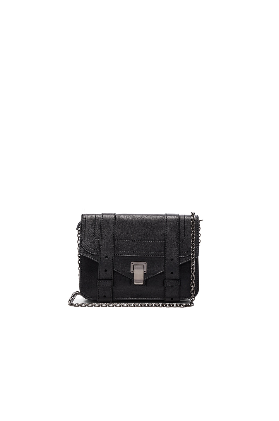 Image 1 of Proenza Schouler PS1 New Chain Wallet Lux Leather in Black