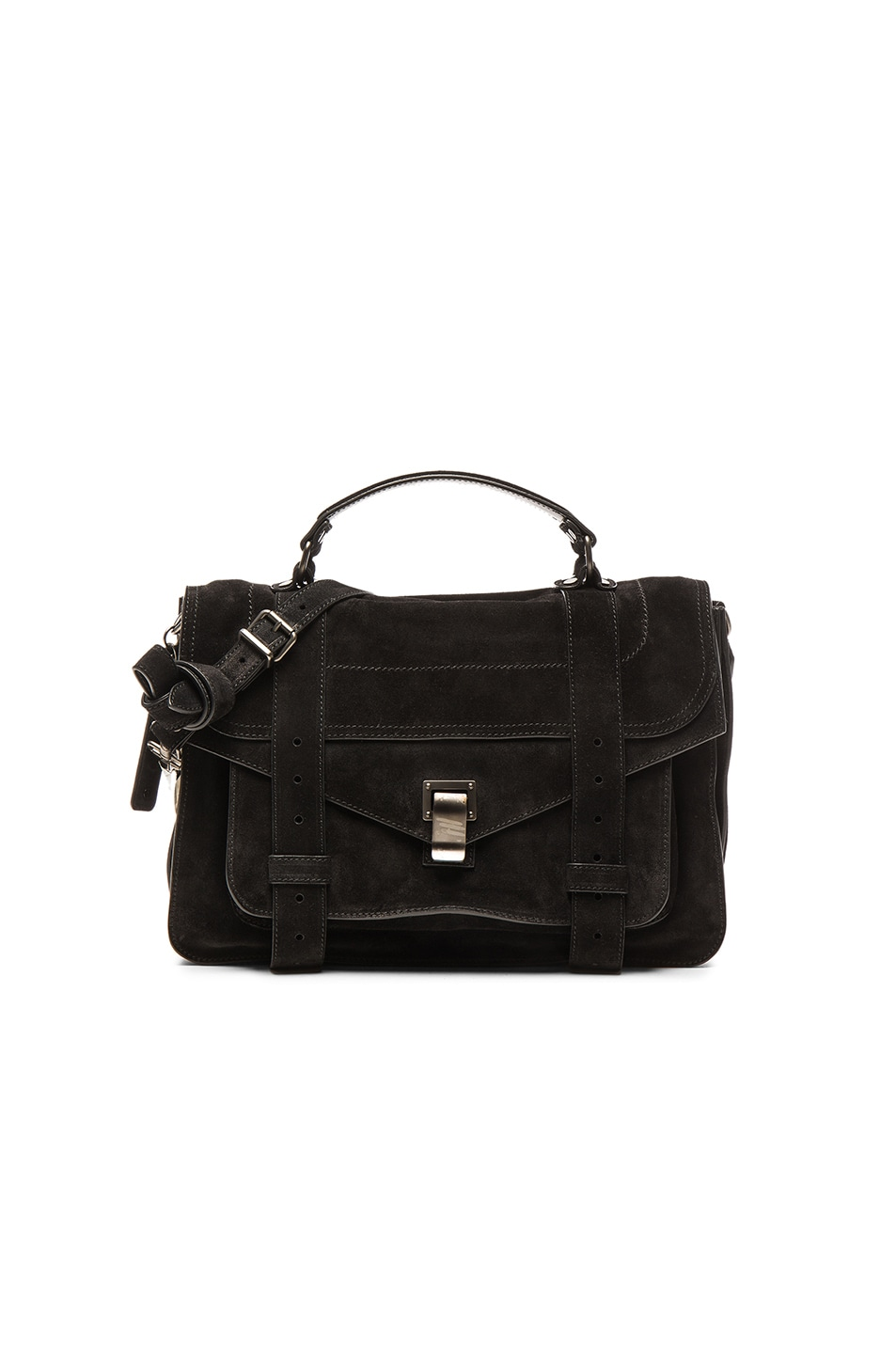 Image 1 of Proenza Schouler Medium PS1 Suede in Black