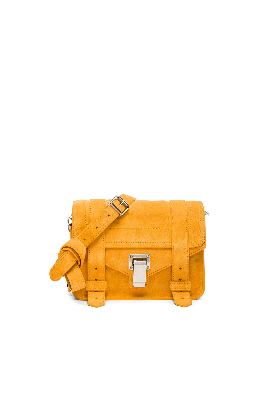 Image 1 of Proenza Schouler Mini Crossbody PS1 Suede in Sunflower