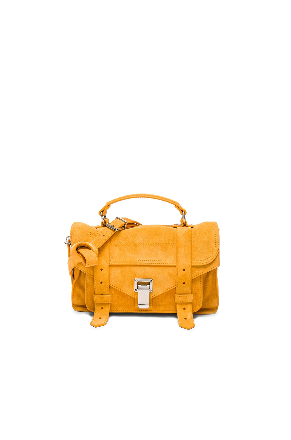 Image 1 of Proenza Schouler Tiny PS1 Suede in Sunflower