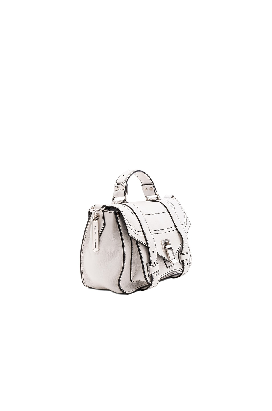 Image 3 of Proenza Schouler Tiny PS1+ in Optic White