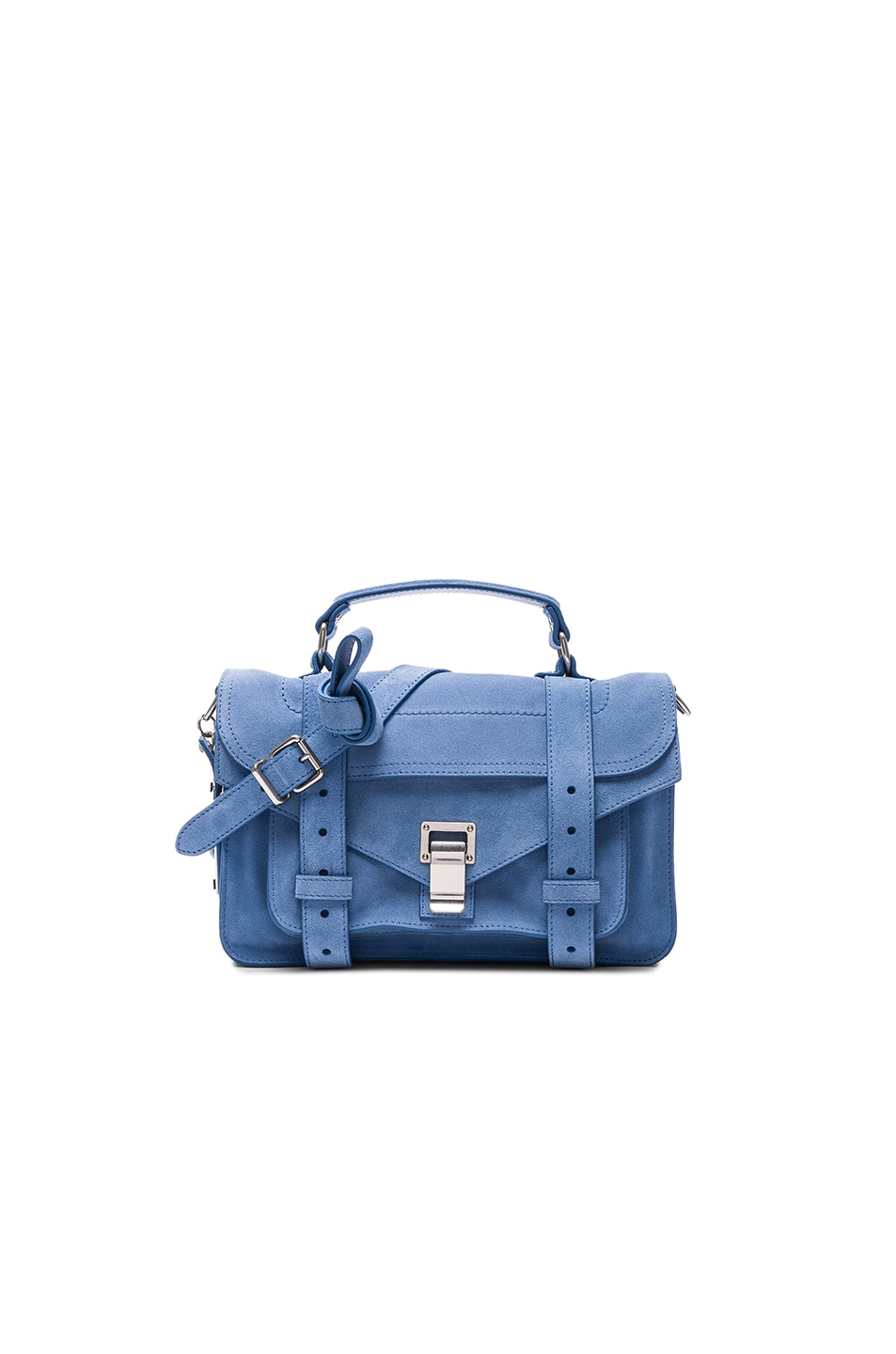 Image 1 of Proenza Schouler Tiny PS1 Suede in Slate Blue