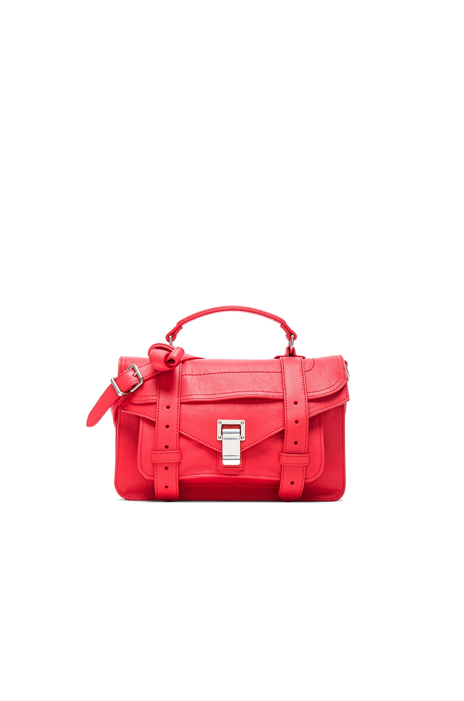 Image 1 of Proenza Schouler Tiny PS1 Lux Leather in Geranium