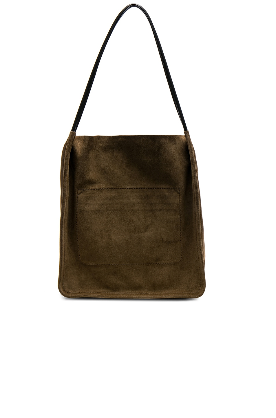 168e48a6232ea Image 2 of Proenza Schouler Extra Large Suede Tote in Bay Leaf