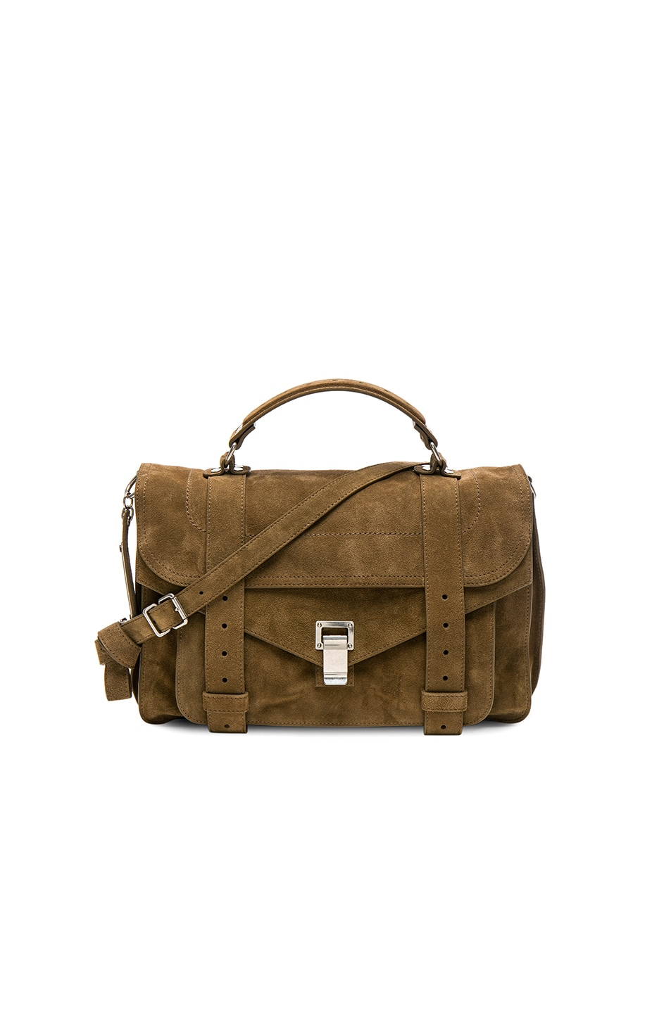 Image 1 of Proenza Schouler Medium PS1 Suede in Bay Leaf