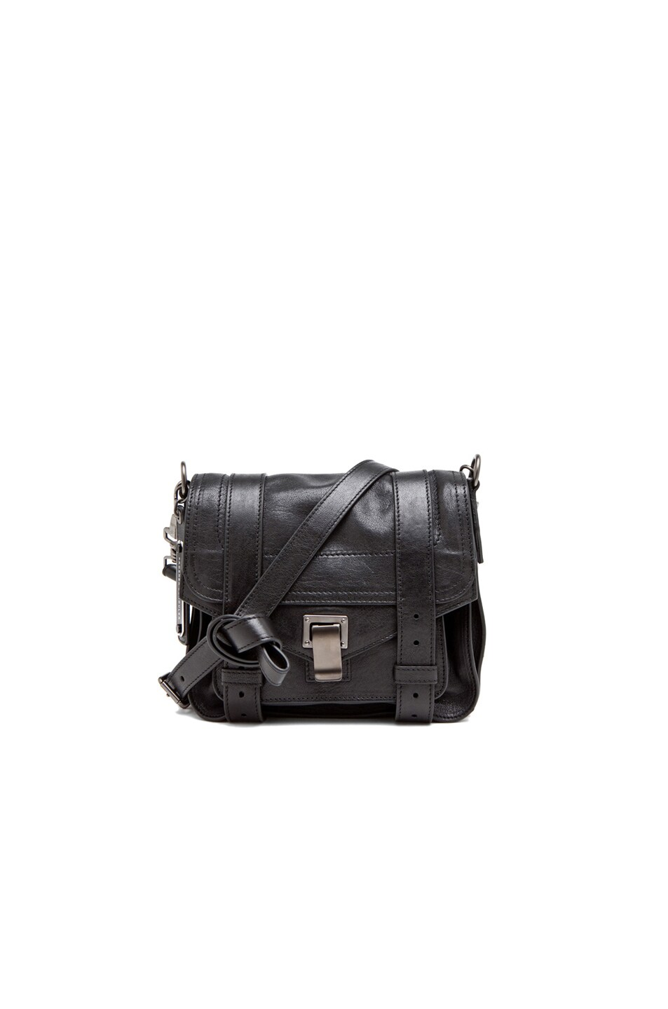 Image 1 of Proenza Schouler PS1 Leather Pouch in Black