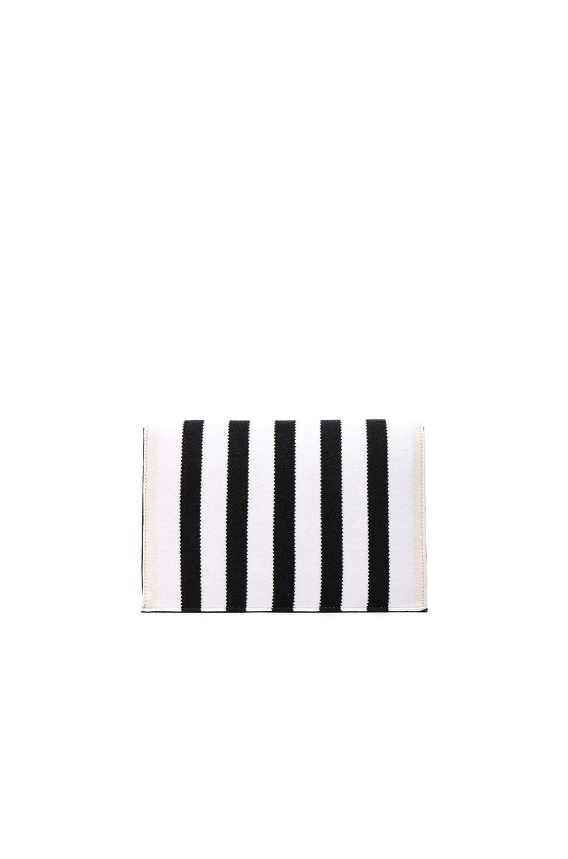 Image 2 of Proenza Schouler Small Knit Stripe Lunch Bag in Black & Ecru