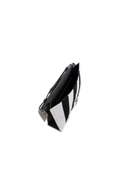 Image 4 of Proenza Schouler Small Knit Stripe Lunch Bag in Black & Ecru