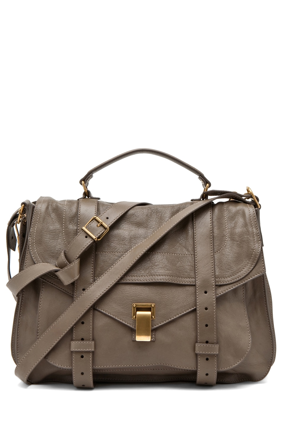 Image 1 of Proenza Schouler X-Large PS1 Leather in Smoke