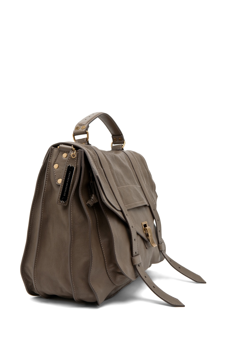 Image 3 of Proenza Schouler X-Large PS1 Leather in Smoke