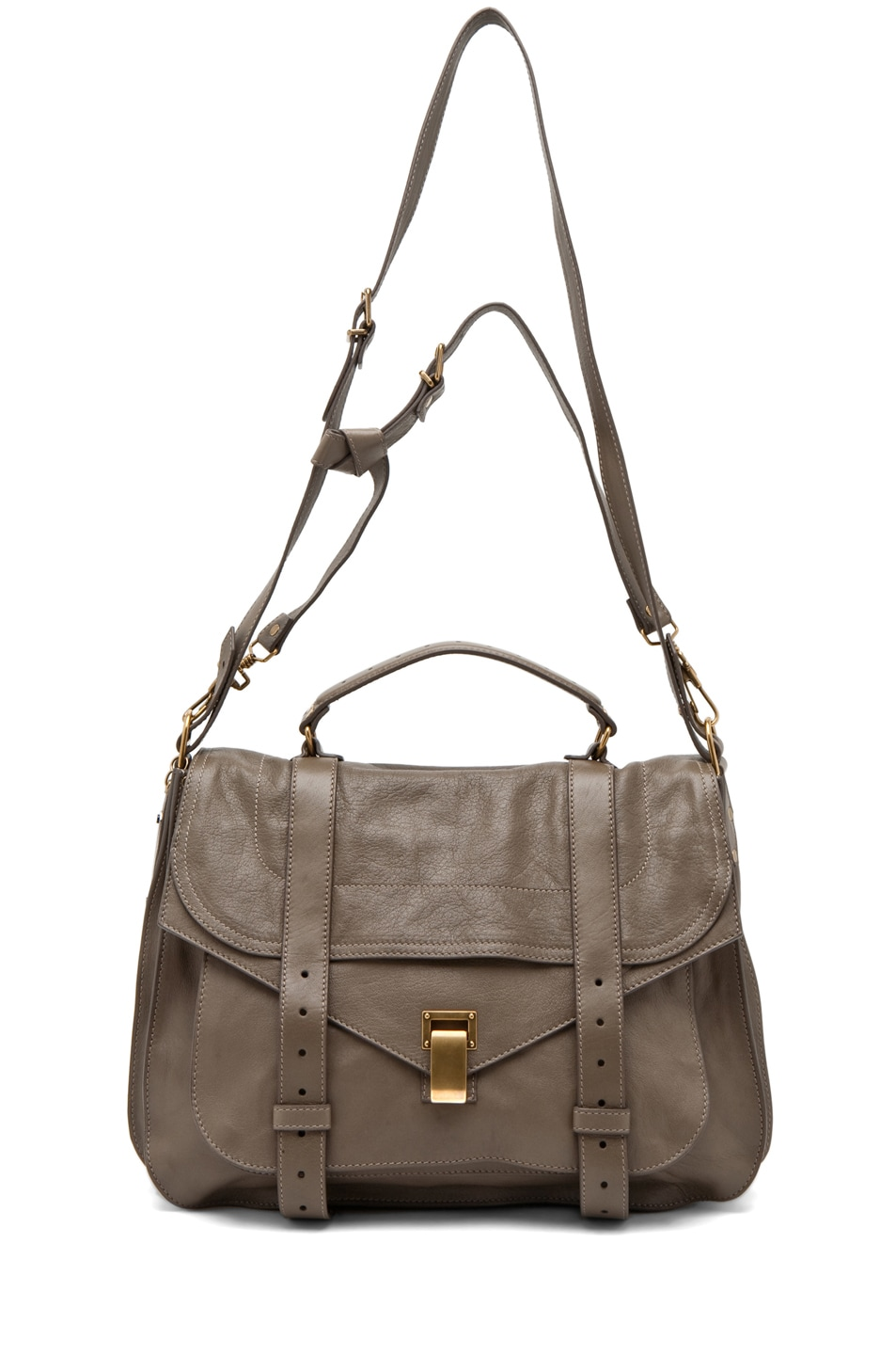 Image 5 of Proenza Schouler X-Large PS1 Leather in Smoke