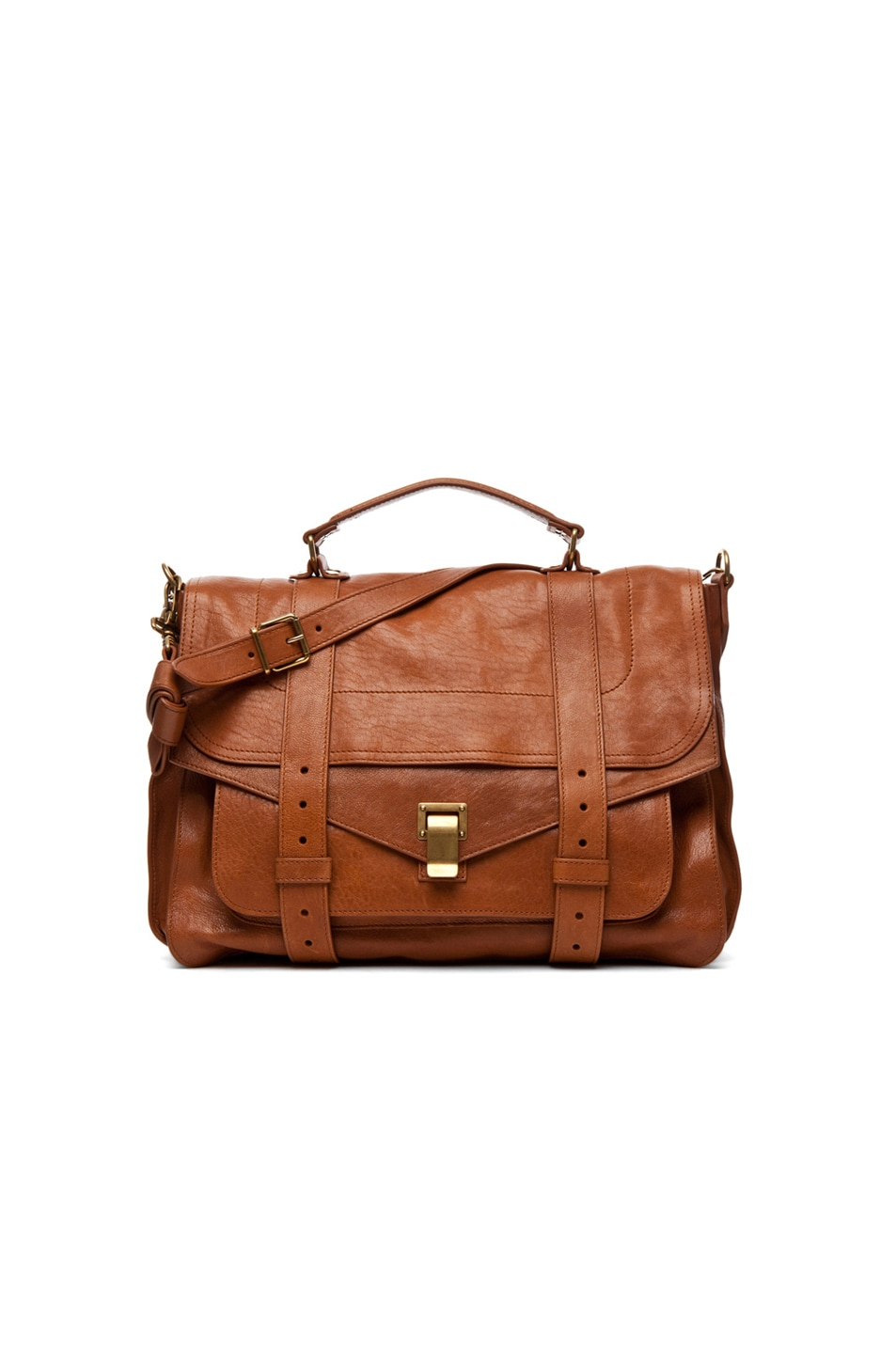 Image 1 of Proenza Schouler Large PS1 Leather in Saddle