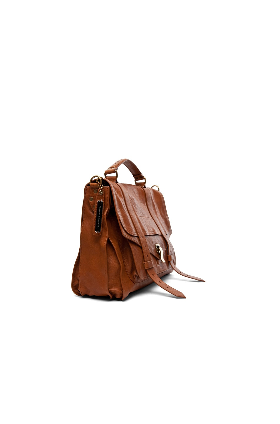 Image 4 of Proenza Schouler Large PS1 Leather in Saddle
