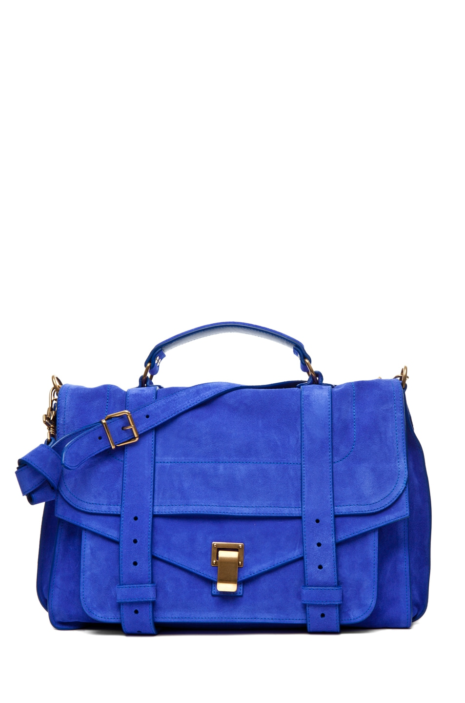 Image 1 of Proenza Schouler PS1 Large Suede  in Cobalt