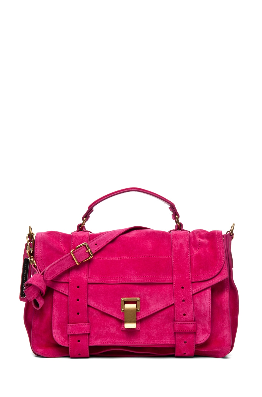 Image 1 of Proenza Schouler PS1 Medium Suede in Hot Pink