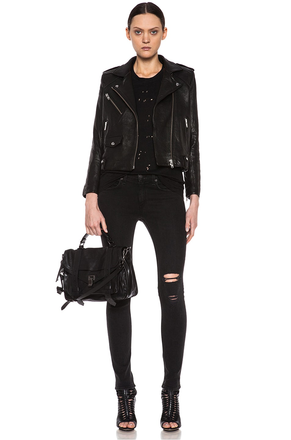 Image 2 of Proenza Schouler Medium PS1 Leather in Black