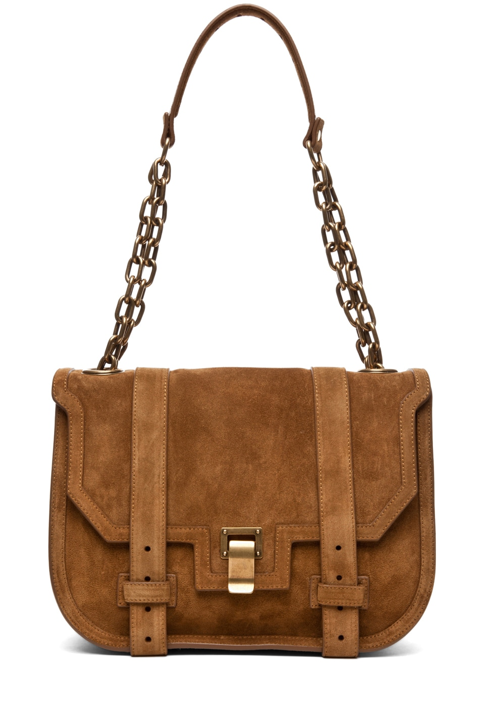 Image 1 of Proenza Schouler PS1 Mini Messenger Suede in Tobacco