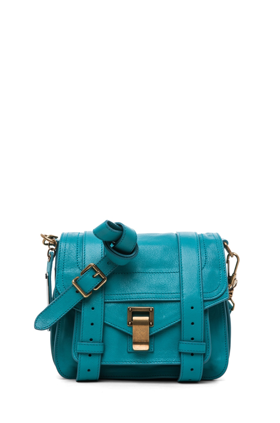 Image 1 of Proenza Schouler PS1 Pouch Leather in Lagoon