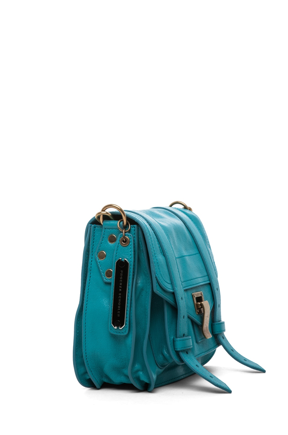 Image 3 of Proenza Schouler PS1 Pouch Leather in Lagoon