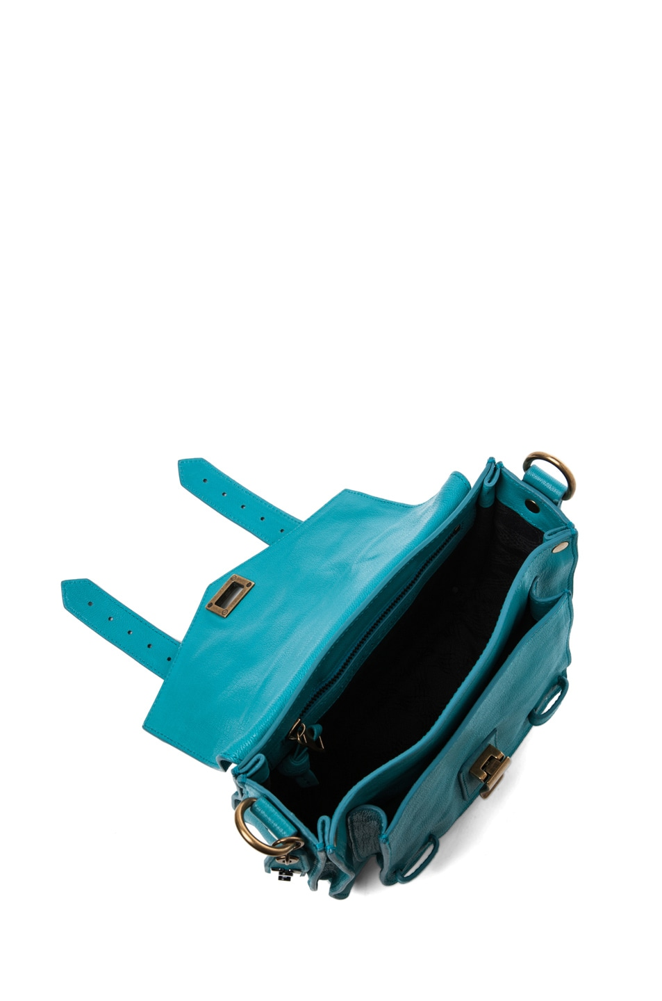 Image 4 of Proenza Schouler PS1 Pouch Leather in Lagoon