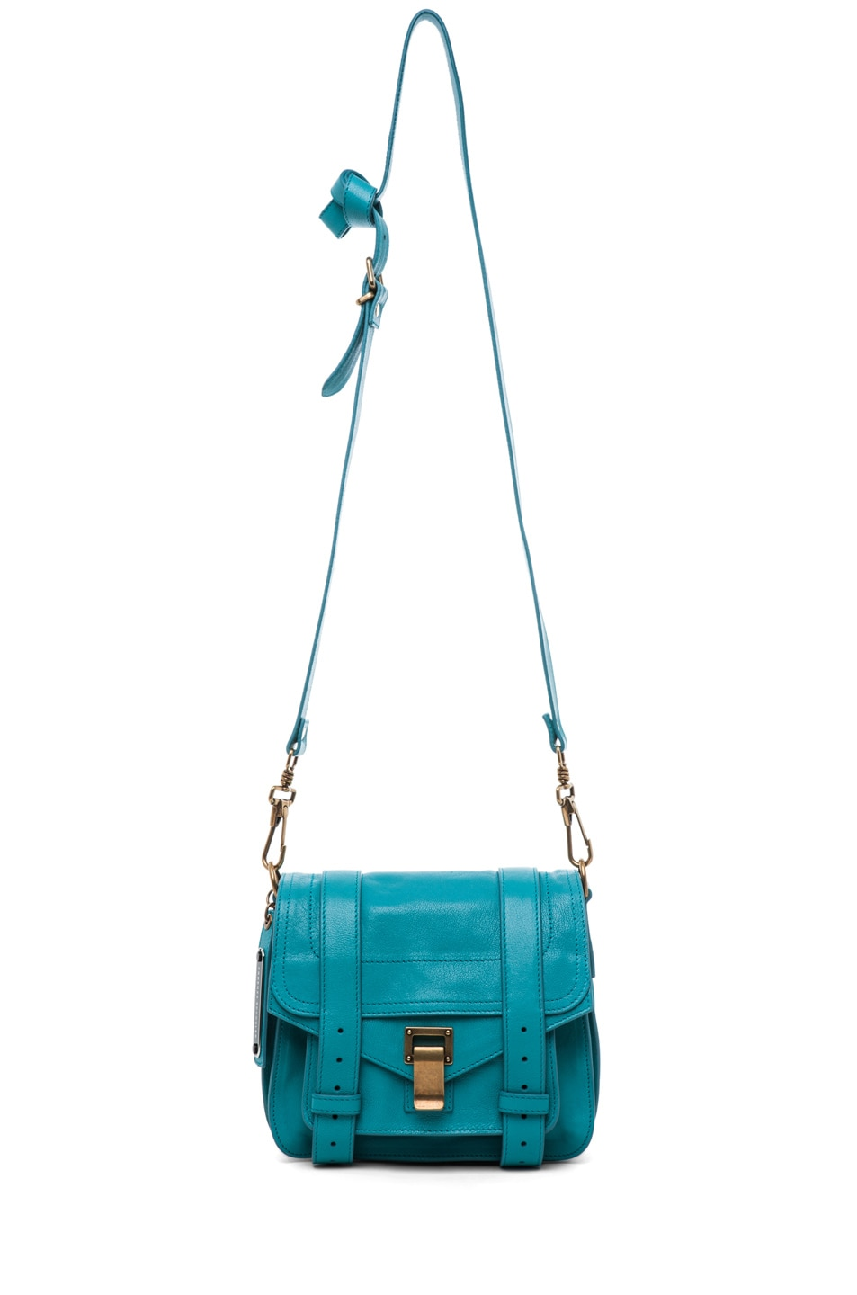Image 5 of Proenza Schouler PS1 Pouch Leather in Lagoon