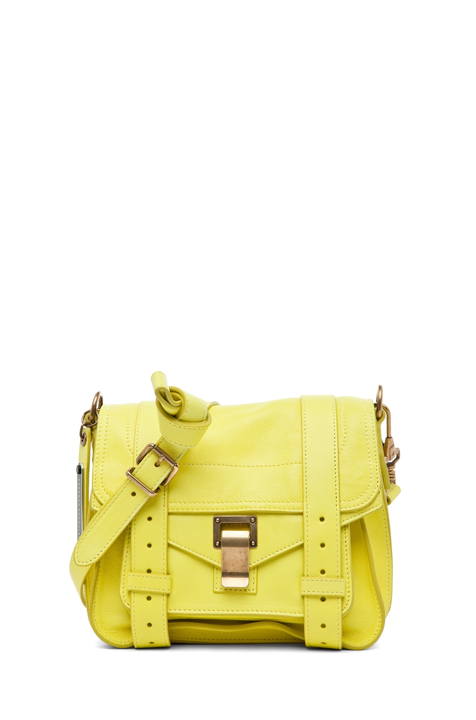 Image 1 of Proenza Schouler PS1 Leather Pouch in Sunshine