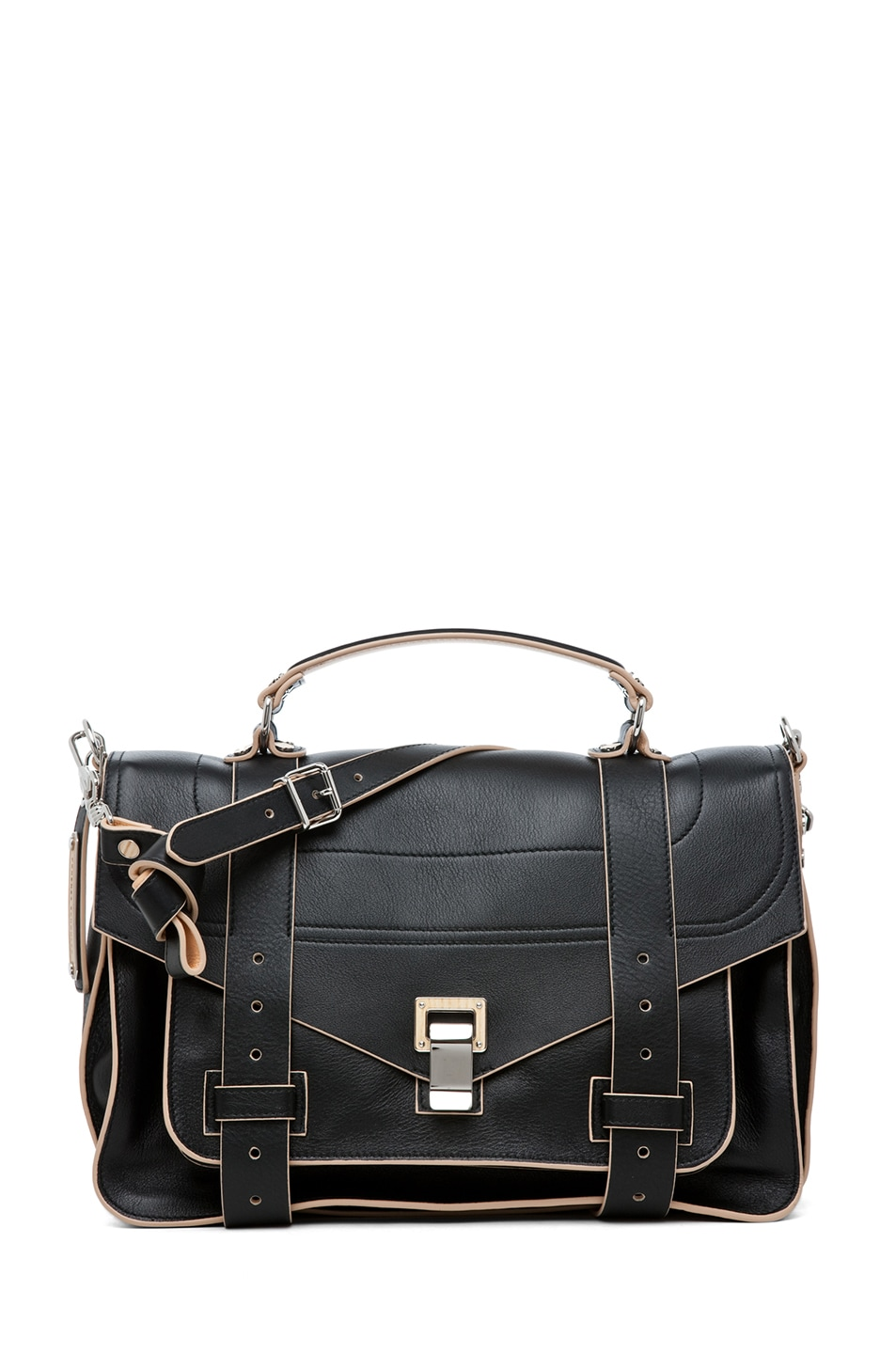 Image 1 of Proenza Schouler PS1 Medium Double Sided 2 Tone in Black & Sorbet