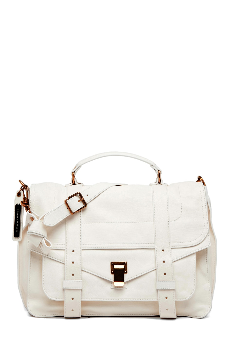 Image 1 of Proenza Schouler PS1 Large Leather in White