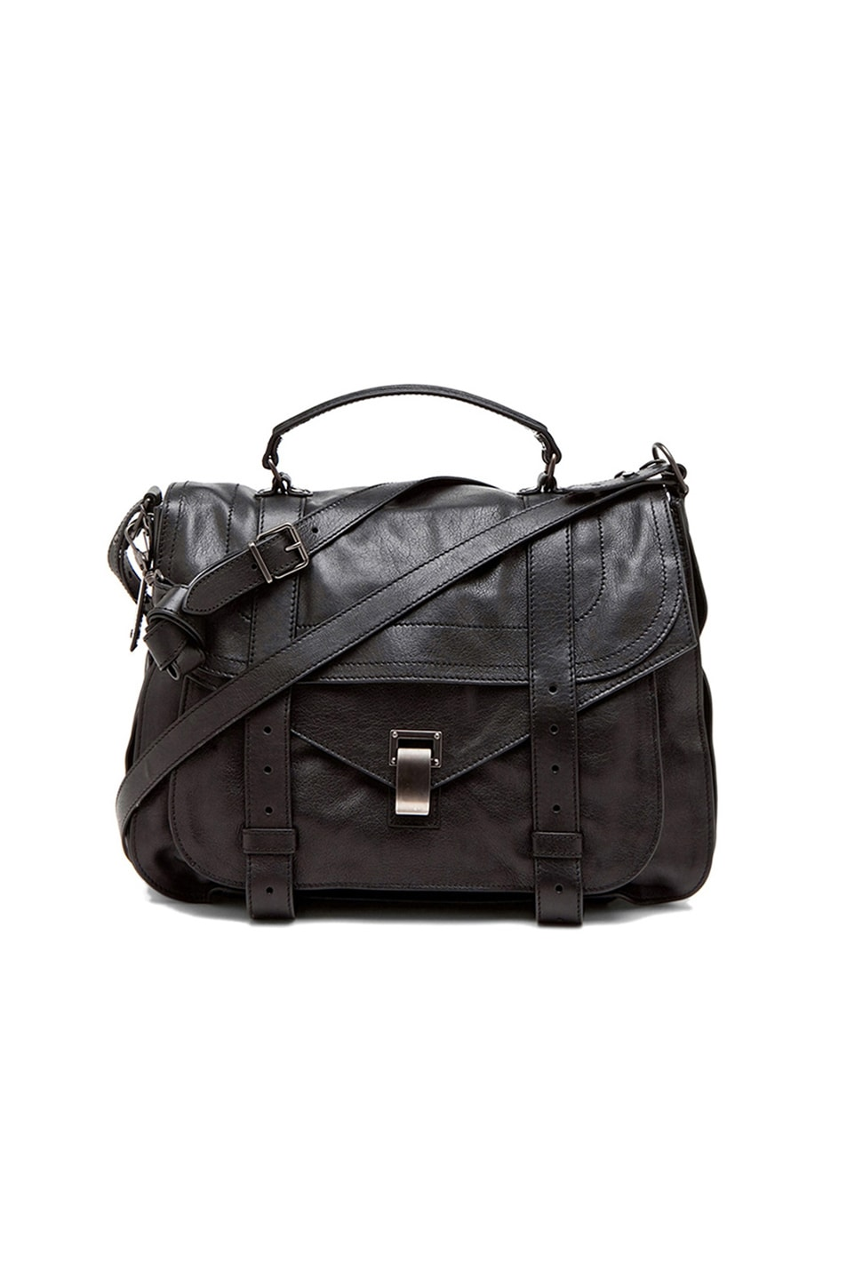 Image 1 of Proenza Schouler X-Large PS1 Leather in Black