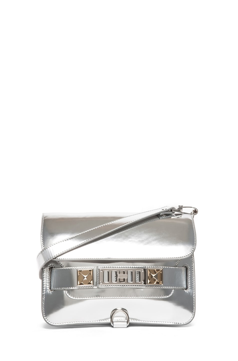 Image 1 of Proenza Schouler PS11 Mini Classic Shoulder Bag in Silver