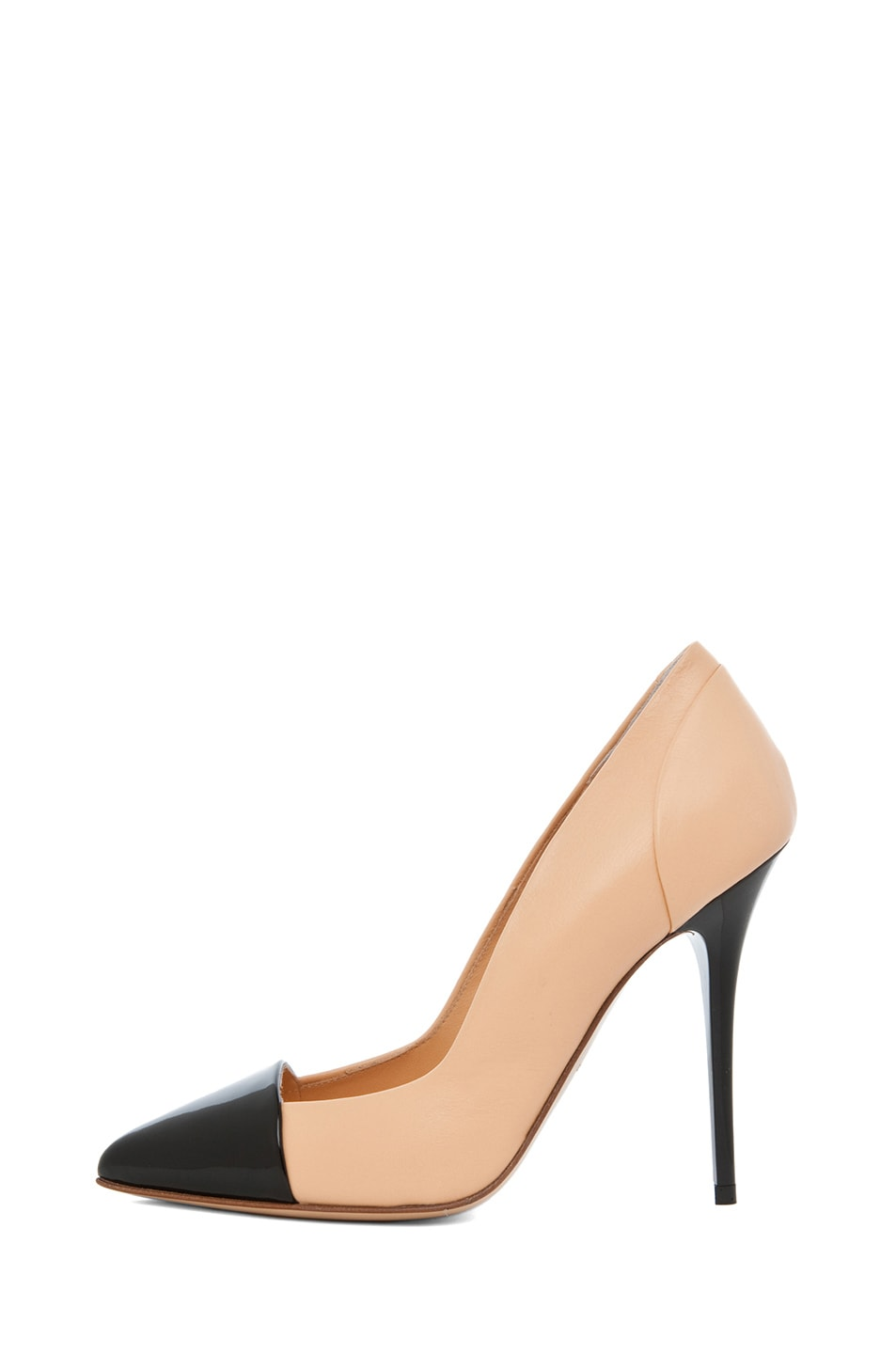 Image 1 of Proenza Schouler Leather Pump in Nude & Black